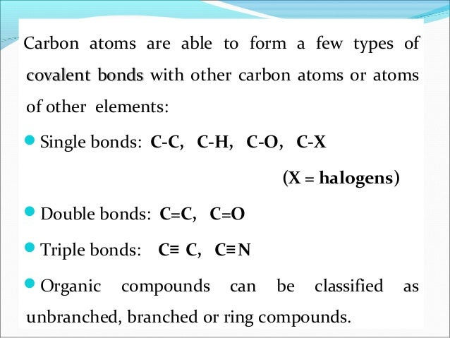 Bonding In Carbon Compounds