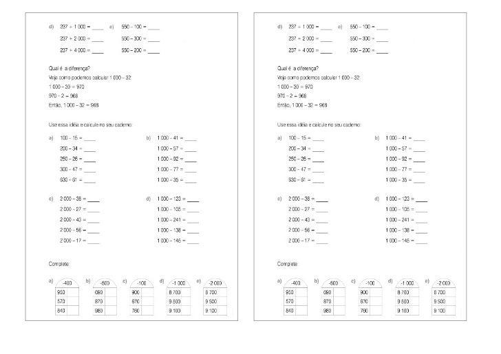 0111 matemática- atividades de calculo mental