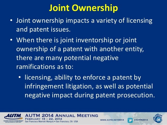 Unintended Consequences Of Joint Patent Ownership