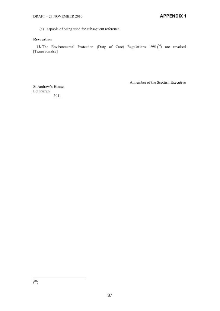 DRAFT – 23 NOVEMBER 2010                                                      APPENDIX 1      (c) capable of being used fo...
