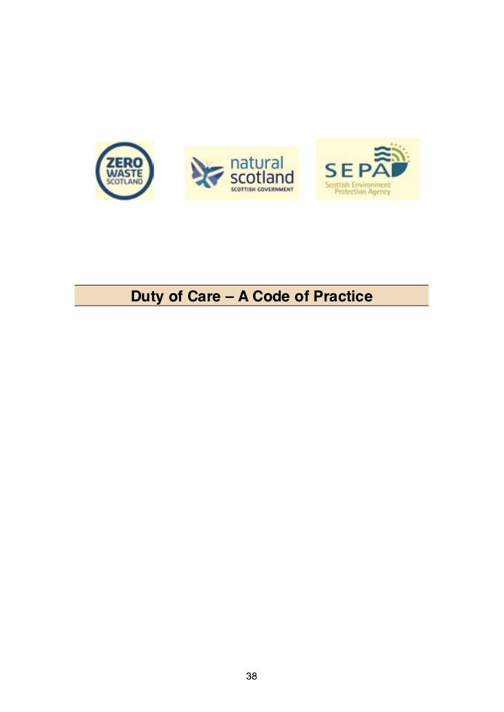 Duty of Care – A Code of Practice               38
