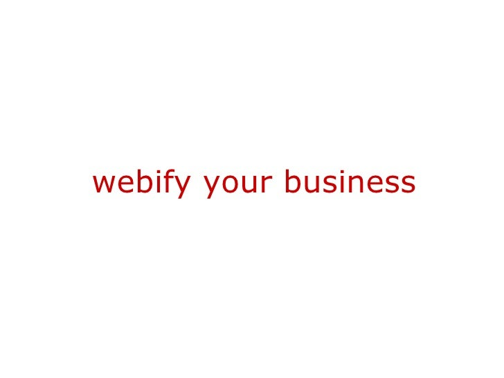 webify your business