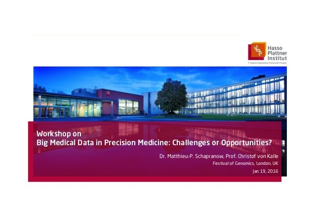 Workshop on Big Medical Data in Precision Medicine: Challenges or Opportunities? Dr. Matthieu-P. Schapranow, Prof. Christo...