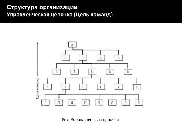 Рис. Сетевой график IT-проекта  Структура организации Управленческая цепочка (Цепь команд)  Рис. Управленческая цепочка