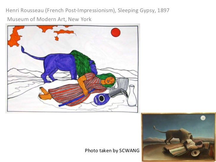 Henri Rousseau (French Post-Impressionism), Sleeping Gypsy, 1897   Museum of Modern Art, New York Photo taken by SCWANG
