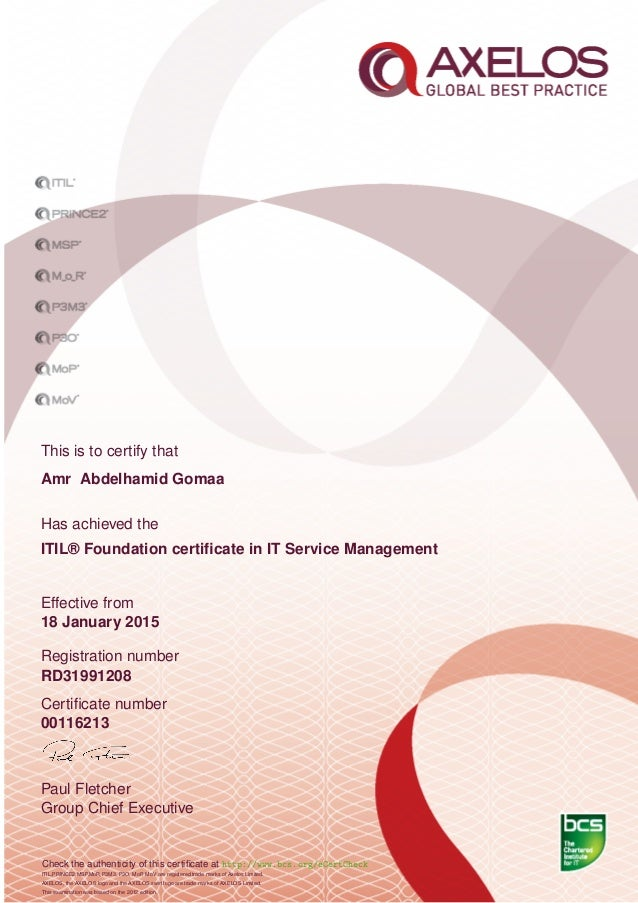 Check Itil Certification Images Free Certificates For All