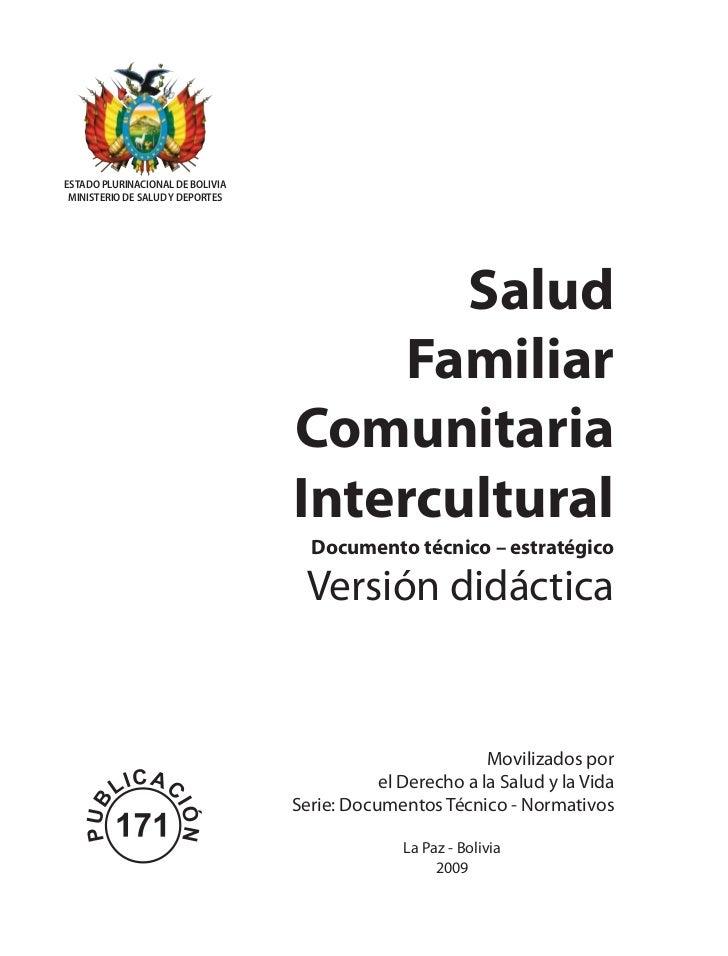 ESTADO PLURINACIONAL DE BOLIVIA MINISTERIO DE SALUD Y DEPORTES                                         Salud              ...