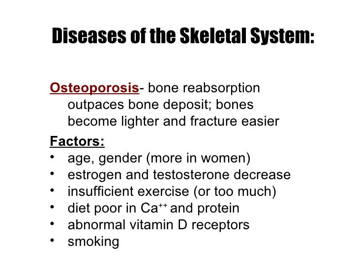 Diseases of the Skeletal System: ...