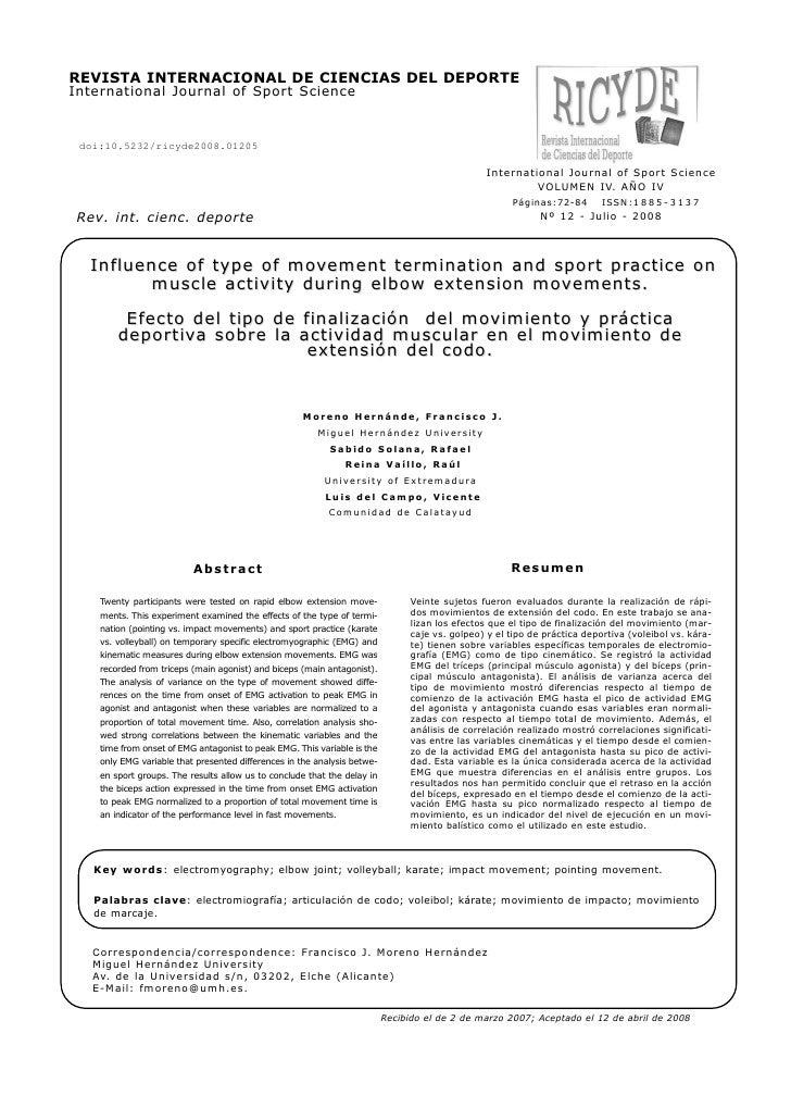 REVISTA INTERNACIONAL DE CIENCIAS DEL DEPORTEInternational Journal of Sport Science doi:10.5232/ricyde2008.01205          ...