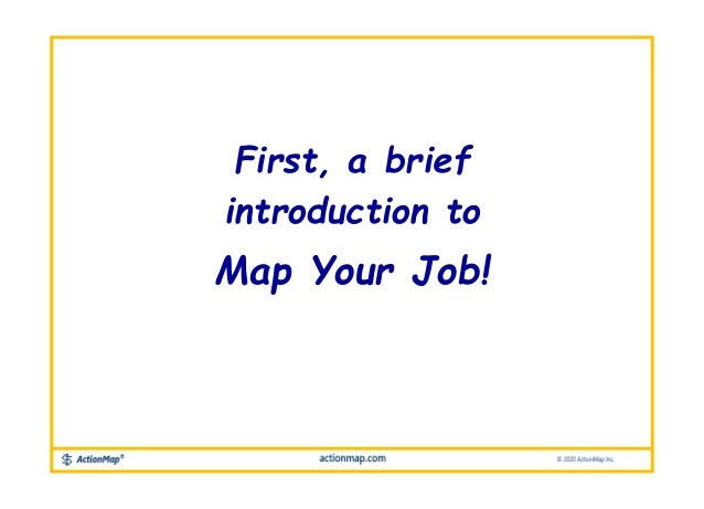 First, a brief introduction to Map Your Job!