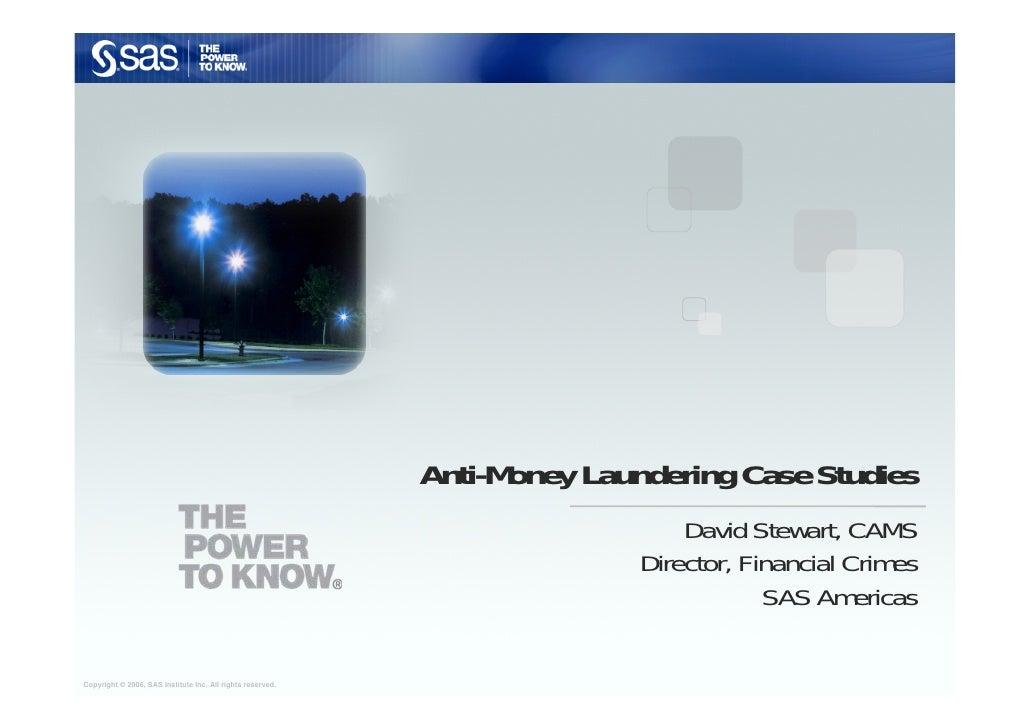 Anti-Money Laundering Case Studies                                                                               David Ste...