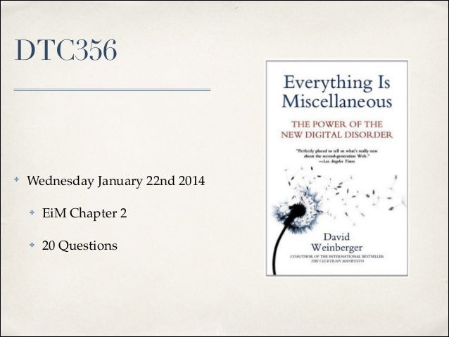 DTC356  ✤  Wednesday January 22nd 2014! ✤  EiM Chapter 2!  ✤  20 Questions
