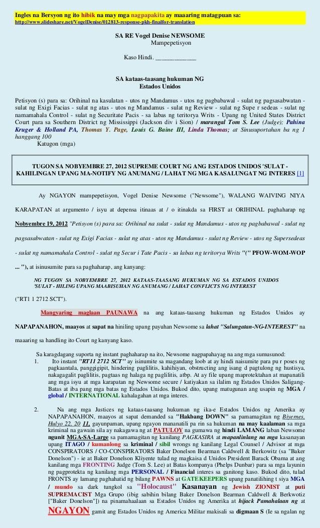 Ingles na Bersyon ng ito hibik na may mga nagpapakita ay maaaring matagpuan sa:http://www.slideshare.net/VogelDenise/01281...