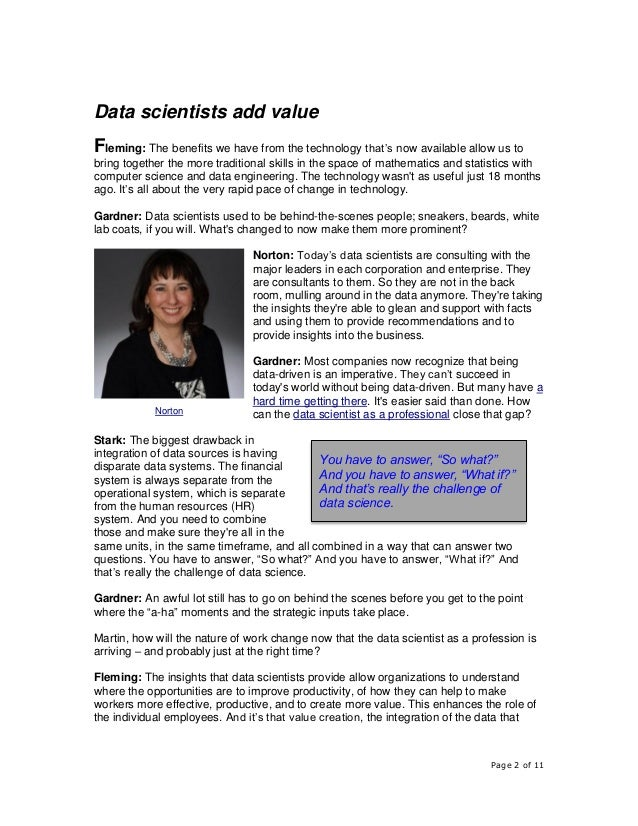 How the Data Science Profession is Growing in Value and Impact Across the Business World Slide 2