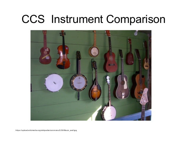 CCS Instrument Comparison https://upload.wikimedia.org/wikipedia/commons/3/39/Music_wall.jpg
