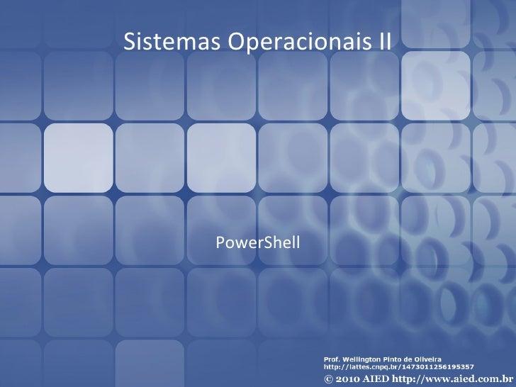 Sistemas Operacionais II PowerShell