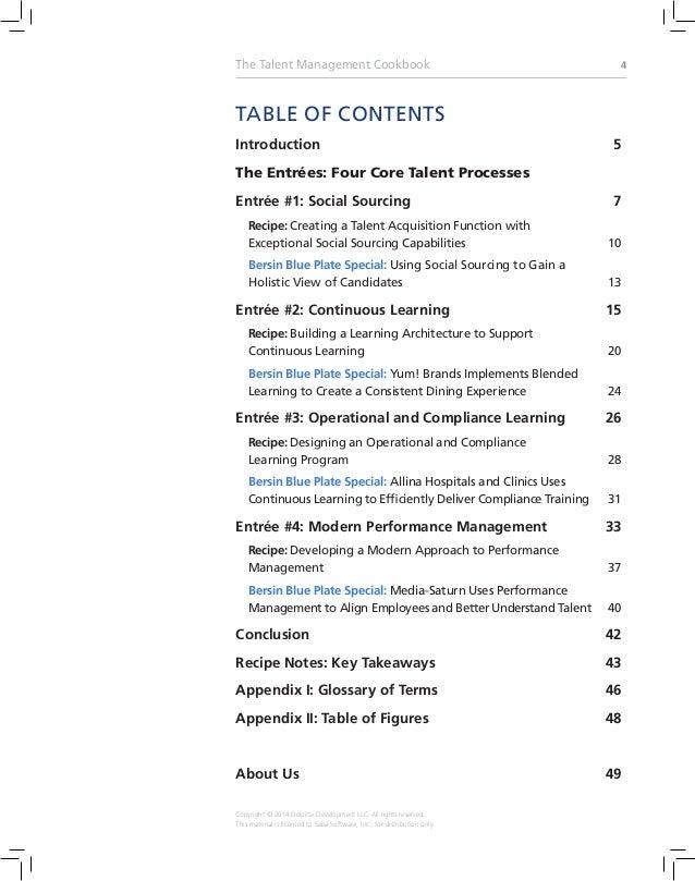 the talent management cookbook recipes for successful talent managem