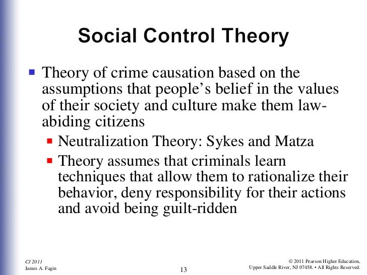 matza and sykes neutralization theory Matza therefore accused cohen's theory, as well as other strain theorists, of 'over-predicting' delinquency rather than being one thing or the other - deviant or non-deviant - individuals are able to drift between different values, not being destined to be one thing or the other.