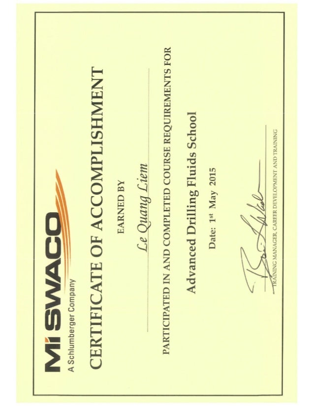 Mud School CertificatePdf