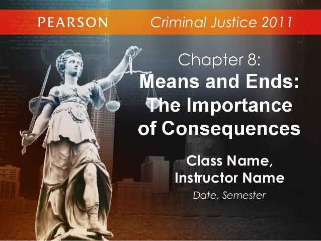 Criminal Justice 2011Class Name,Instructor NameDate, Semester