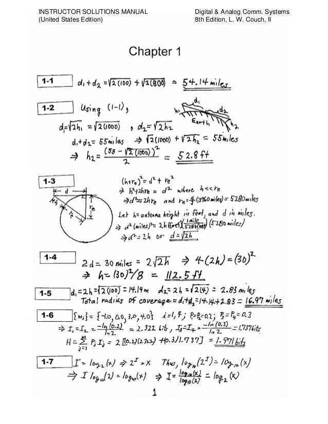 solution for communication systems Hello friends, click on chapter name to download the solution chapter 1 random process chapter 2 continuous-wave modulation chapter 3 pulse modulation chapter 4 baseband pulse transmission chapter 5 signal space analysis chapter 6 passband digital transmission chapter 7 spread spectrum modulation chapter 8 multiuser radio communication chapter 9 fundamental limits in information theory chapter.