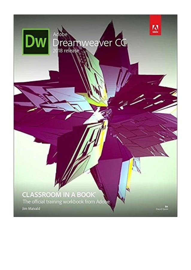 Adobe Dreamweaver CC Classroom in a Book PDF - Jim Maivald 2018 rel…