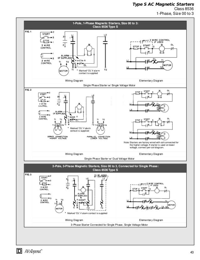 Square d nema size 1 wiring diagram square d overload for Square d motor starter overload chart
