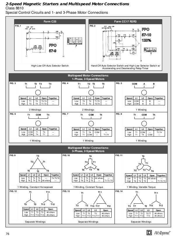 Two Speed Motor Wiring Diagram 3 Phase -