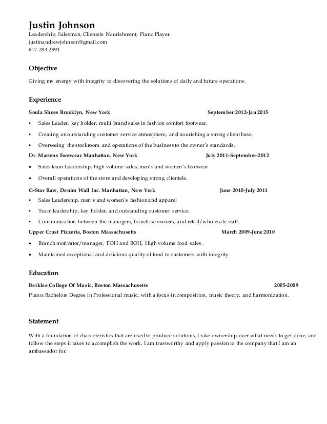 10+ Retail Resume Sample | Forklift Resumeretail Resume. Assistant