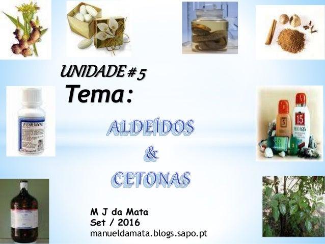 M J da Mata Set / 2016 manueldamata.blogs.sapo.pt UNIDADE# 5 Tema:
