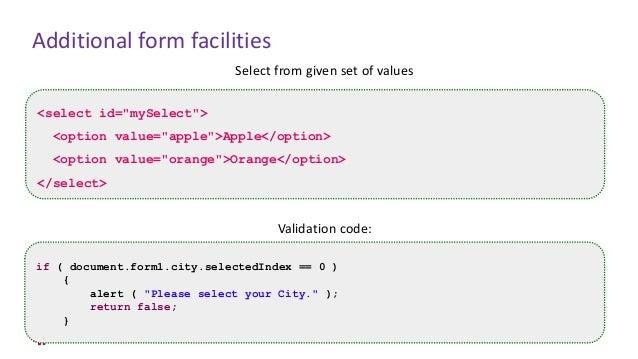 JavaScript - Chapter 14 - Form Handling