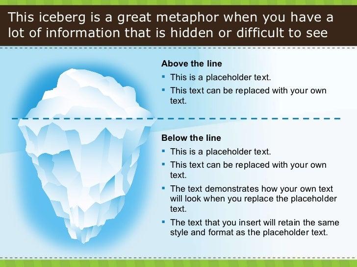 014 powerpoint tastic template iceberg