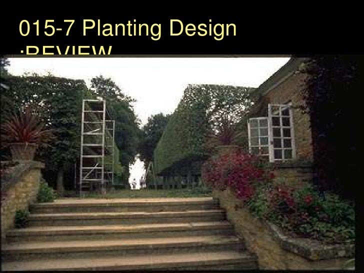 015-7 Planting Design :REVIEW<br />