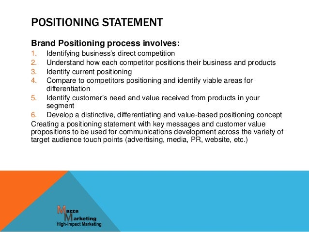 What Is a Brand Positioning Statement?