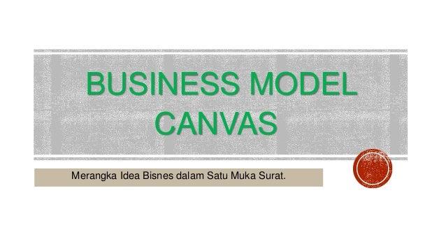 BUSINESS MODEL CANVAS Merangka Idea Bisnes dalam Satu Muka Surat.