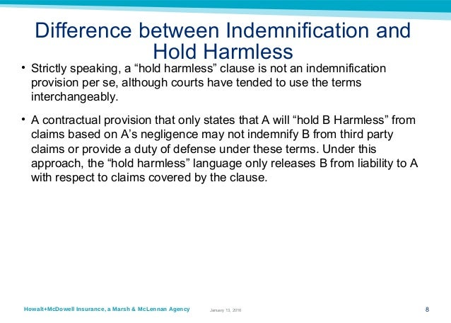 Hm-Mma Powerpoint Indemnification Agreements - 2014 12