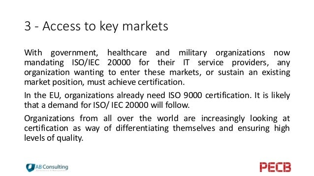 iso 9000 is the key to increase the competitive levels of companies Iso 9001:2008 is implemented by over one million companies and organisations in more than 170 countries this makes it one of the most widely used management tools in the world today it is intended to help save money, increase profit , win more business and satisfy more customers.
