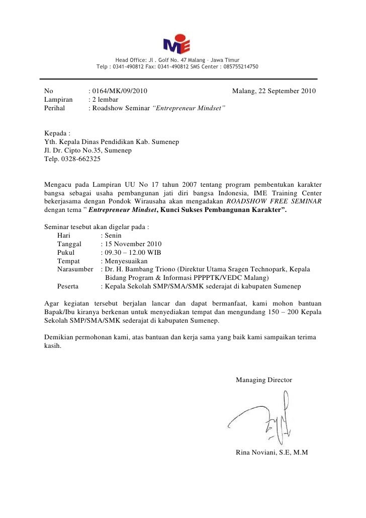 Head Office: Jl . Golf No. 47 Malang – Jawa Timur                 Telp : 0341-490812 Fax: 0341-490812 SMS Center : 0857552...