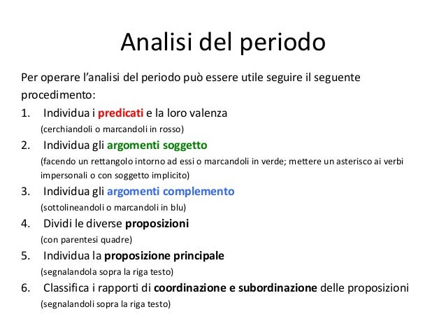 Analisi Del Periodo Lessons Tes Teach