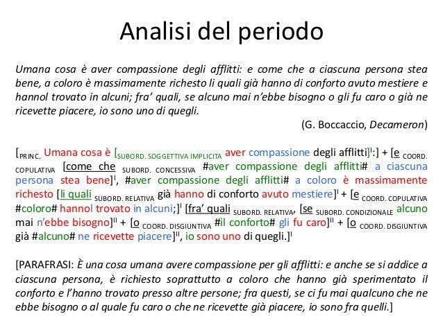016 Analisi Del Periodo