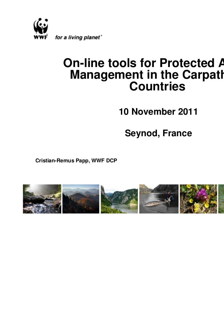 On-line tools for Protected Areas          Management in the Carpathian                     Countries                     ...