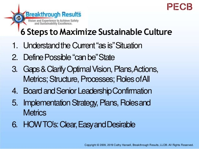 """Maximize SustainableCulture • UnderstandtheCurrent""""asis""""Situation ⁻Vision,Strategy,Companyculture,Leadership ⁻Valueandrole..."""