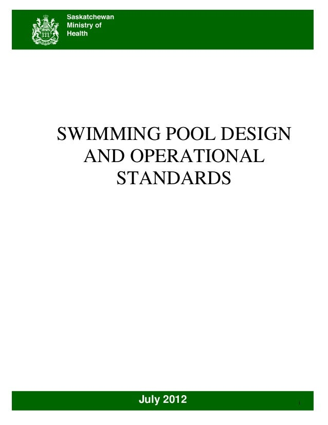 Pool standards july2012 for Pool design requirements