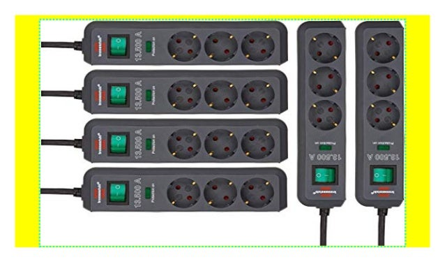Brennenstuhl Eco-Line Steckdosenleiste mit Schalter 1,5m
