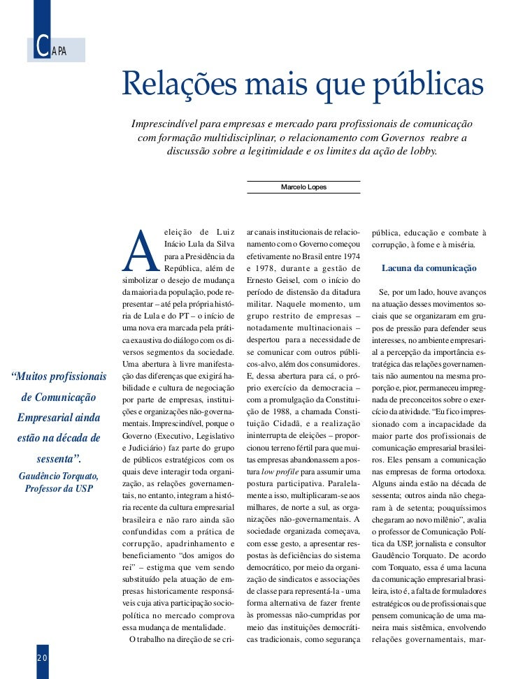 CAPA                        Relações mais que públicas                           Imprescindível para empresas e mercado pa...