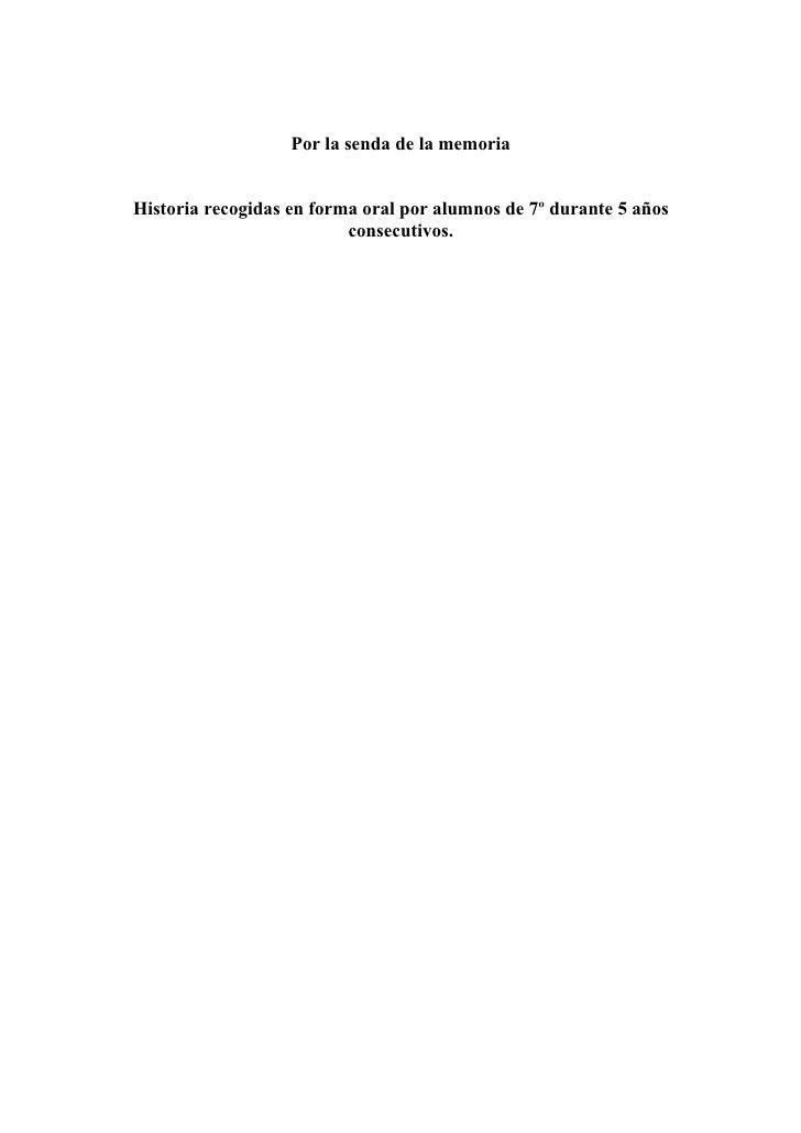018 textos colectados por la senda de la memoria