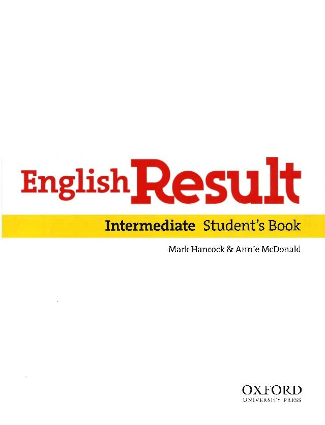 English Result Intermediate Student Book