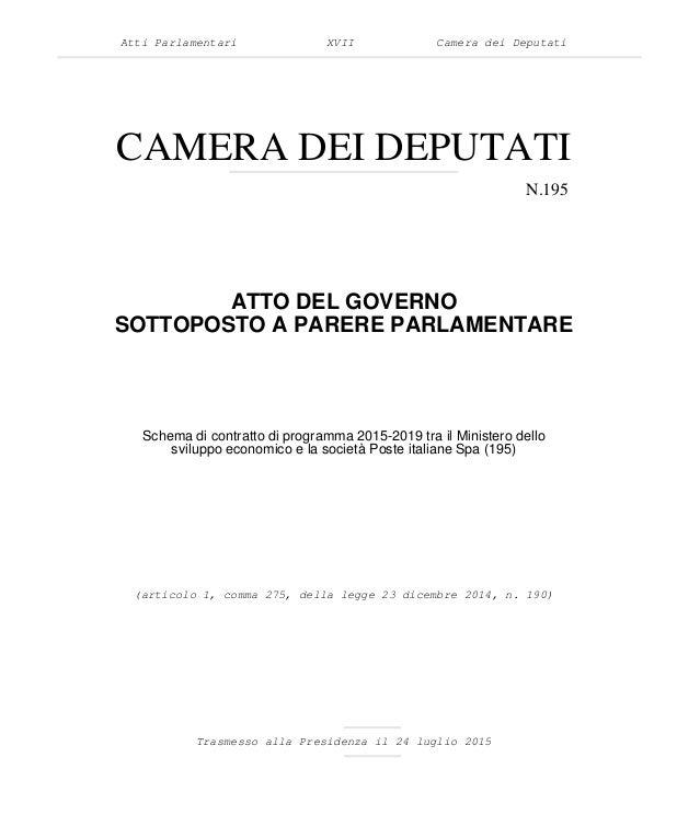 Atti Parlamentari XVII Camera dei Deputati CAMERA DEI DEPUTATI N.195 ATTO DEL GOVERNO SOTTOPOSTO A PARERE PARLAMENTARE Tra...