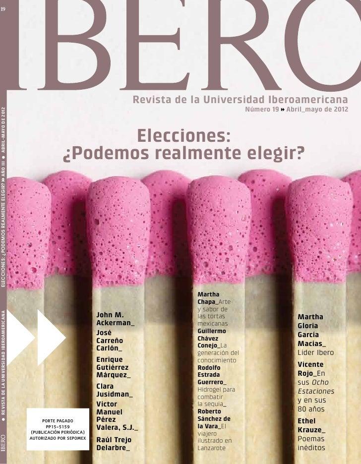 19                                                                                   Revista de la Universidad Iberoameric...