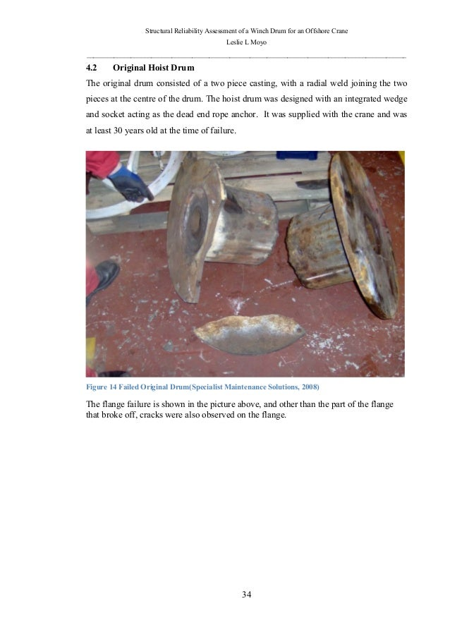 Structural reliability assessment of a winch drum for an
